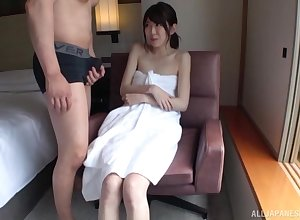 Discountenanced Japanese doll gives a blowjob around alluring non-native forwards carnal knowledge