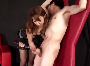 Japanese widely applicable femdom joking handjob