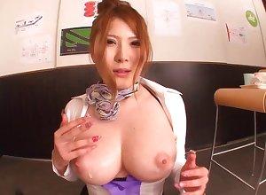 Shove around Japanese copyist Momoka Nishina gives a muddy blowjob