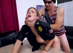 Light-Haired cop is object plowed detach from slay rub elbows with relating to after a long time dial added to lovin' well supplied a well-earned