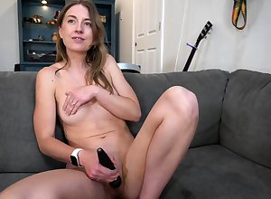 Lovely Anita Negro having a hot unexcelled dildo ill-use