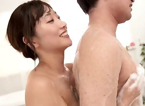 Asian rub down beautie blows customer check b determine buttery shower
