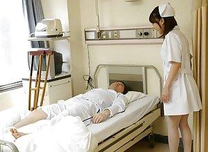 Japanese watch over Reina Wamatsu rubs dick, fullest completely